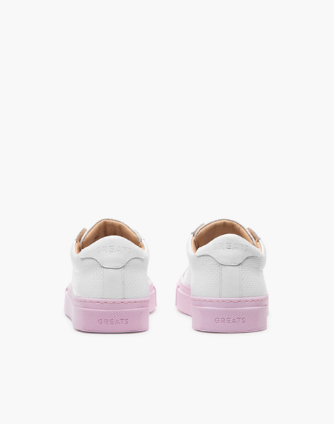 GREATS® Royale Reverse Leather Low-Top Sneakers in pink image 2