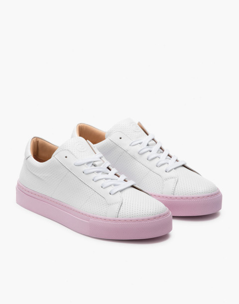GREATS® Royale Reverse Leather Low-Top Sneakers in pink image 1