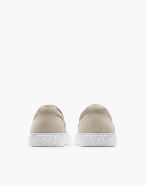 GREATS® Wooster Nubuck Slip-On Sneakers in natural image 2