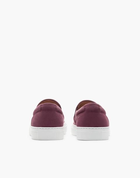 GREATS® Wooster Nubuck Slip-On Sneakers in purple image 2