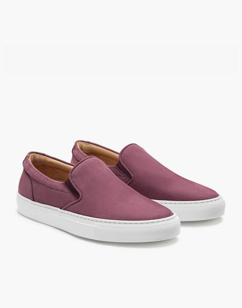 GREATS® Wooster Nubuck Slip-On Sneakers in purple image 1