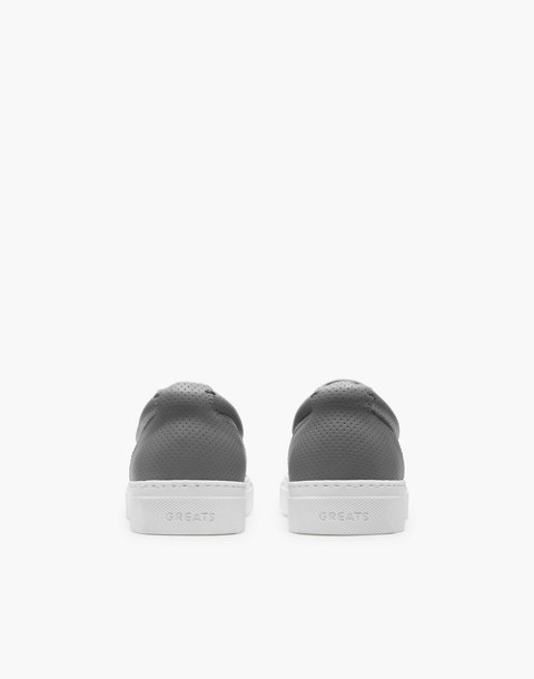 GREATS® Wooster Perforated Leather Slip-On Sneakers in gray image 2