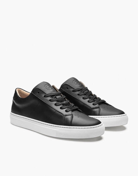 GREATS® Royale Leather Low-Top Sneakers in black image 1