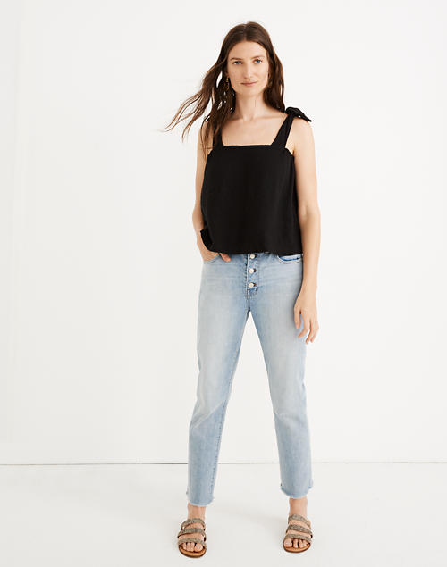 The Tall High Rise Slim Boyjean In Fitzgerald Wash: Button Front Edition by Madewell
