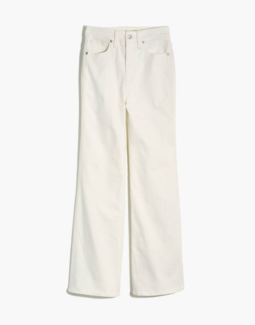 """Tall 11"""" High Rise Flare Jeans In Tile White by Madewell"""