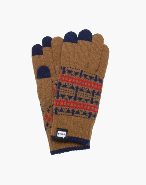EVOLG® Jacquard Touchscreen Gloves in brass image 1