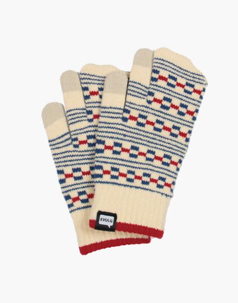 EVOLG® Block Touchscreen Gloves in white image 1