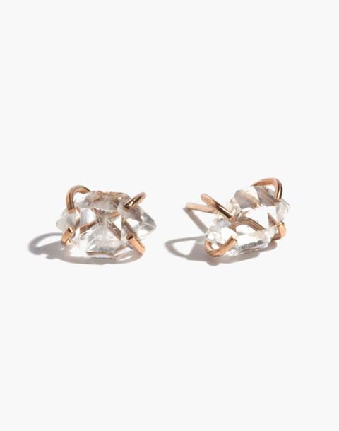 Melissa Joy Manning® 14k Gold Prong Set Herkimer Quartz Stud Earrings in gold image 1