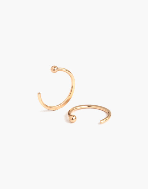 Melissa Joy Manning® 14k Gold Hug Hoop Earrings in gold image 2