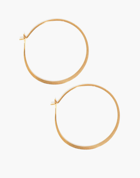 "Melissa Joy Manning® 14k Gold 1.5"" Round Hoop Earrings in gold image 1"