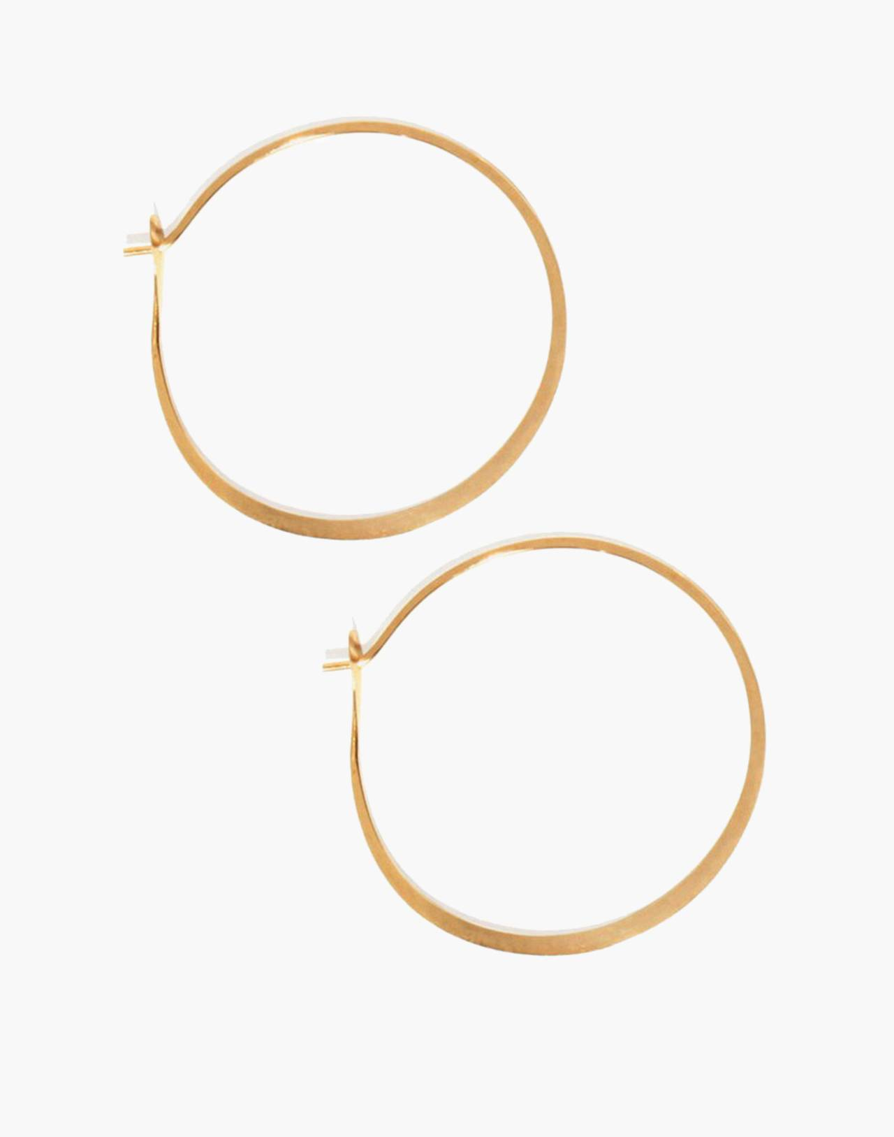"Melissa Joy Manning® 14k Gold 1.5"" Round Hoop Earrings in gold image 1"