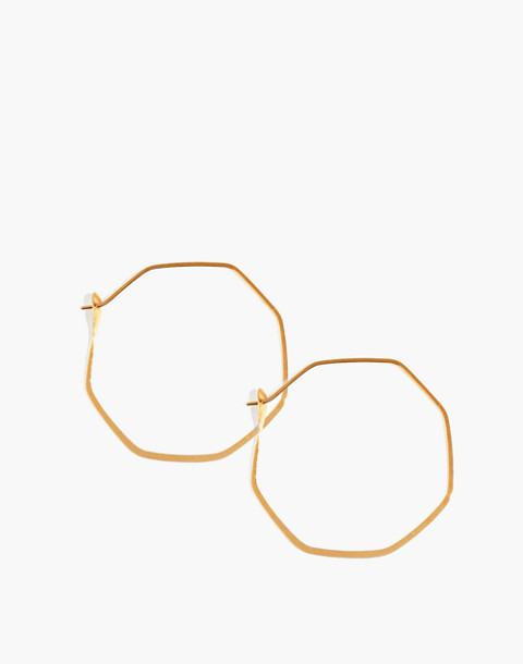 Melissa Joy Manning® 14k Gold Octagon Hoop Earrings in gold image 1