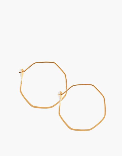Melissa Joy Manning® 14k Gold Octagon Hoop Earrings in gold image 1