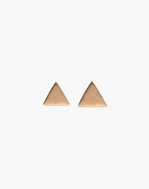Melissa Joy Manning® 14k Gold Solid Triangle Stud Earrings in gold image 2