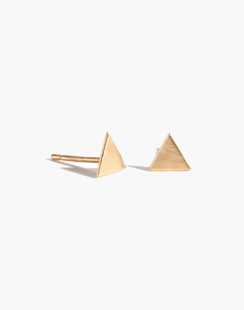 Melissa Joy Manning® 14k Gold Solid Triangle Stud Earrings in gold image 1