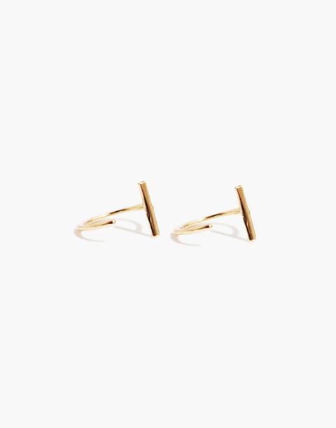 Melissa Joy Manning® 14k Gold Bar Hug Hoop Earrings in gold image 1