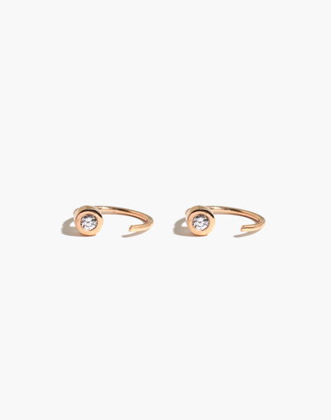 Melissa Joy Manning® 14k Gold Diamond Hug Hoops in gold image 1