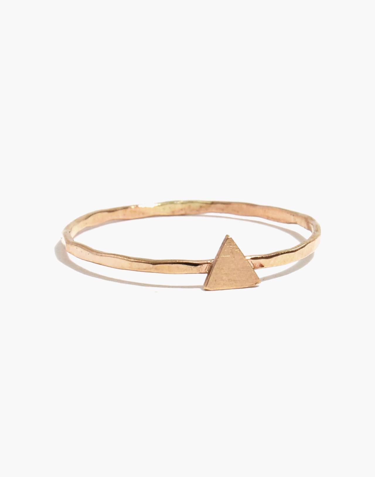 Melissa Joy Manning® 14k Gold Triangle Stacking Ring in gold image 1