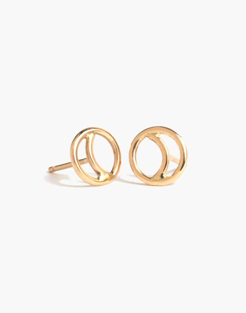 Melissa Joy Manning® 14k Gold Crescent Moon Stud Earrings by Madewell