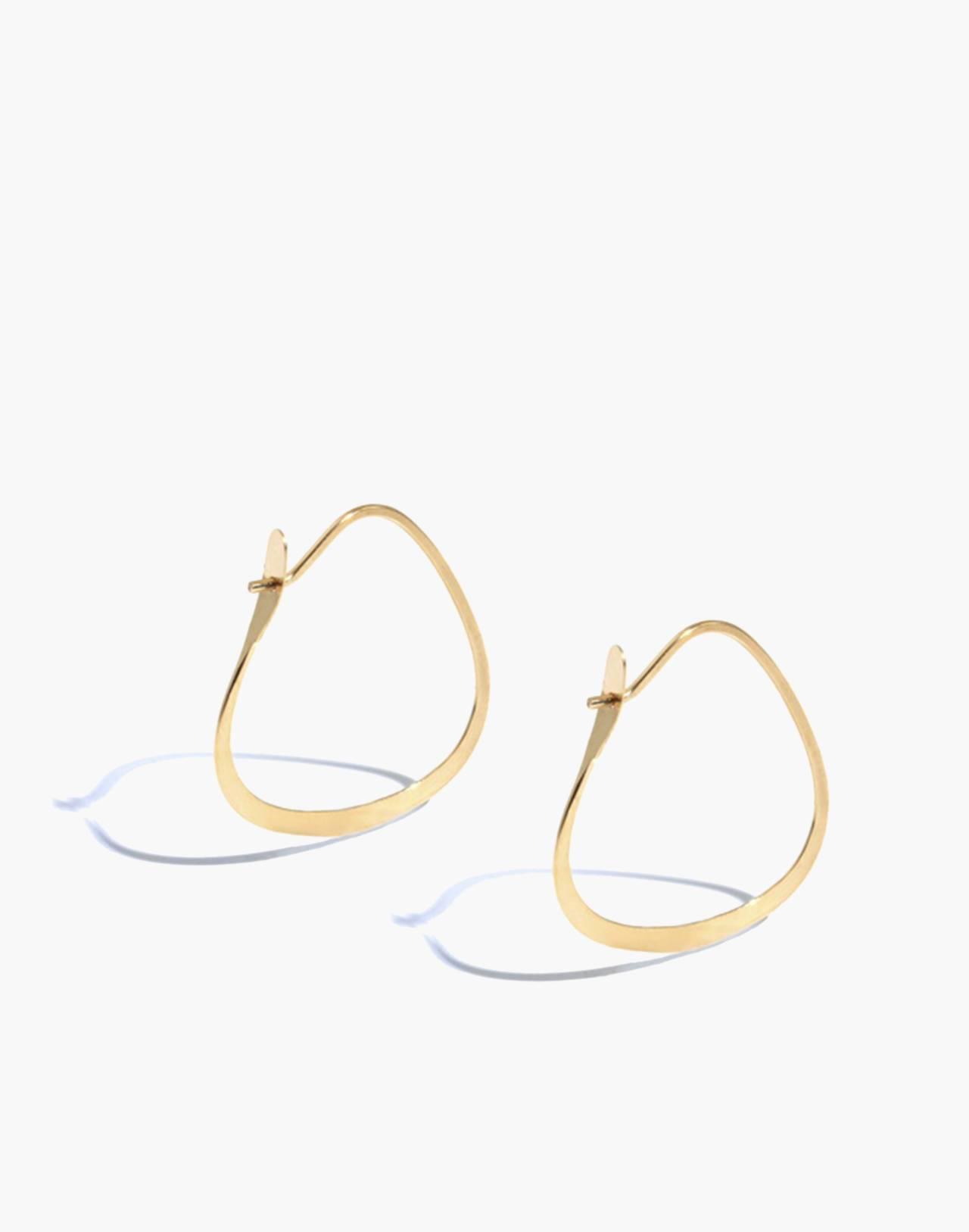 Melissa Joy Manning® 14k Gold Triangle Hoop Earrings in gold image 1