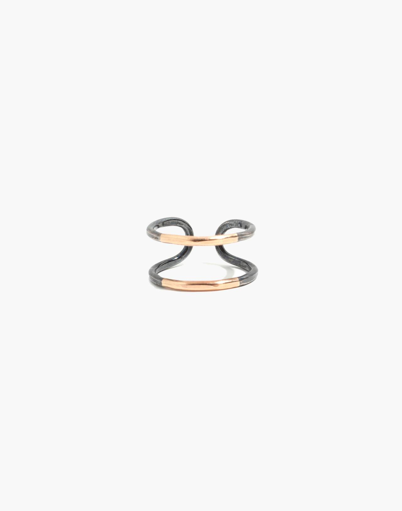 Melissa Joy Manning® Mixed Metal Cuff Open Ring in gold image 1