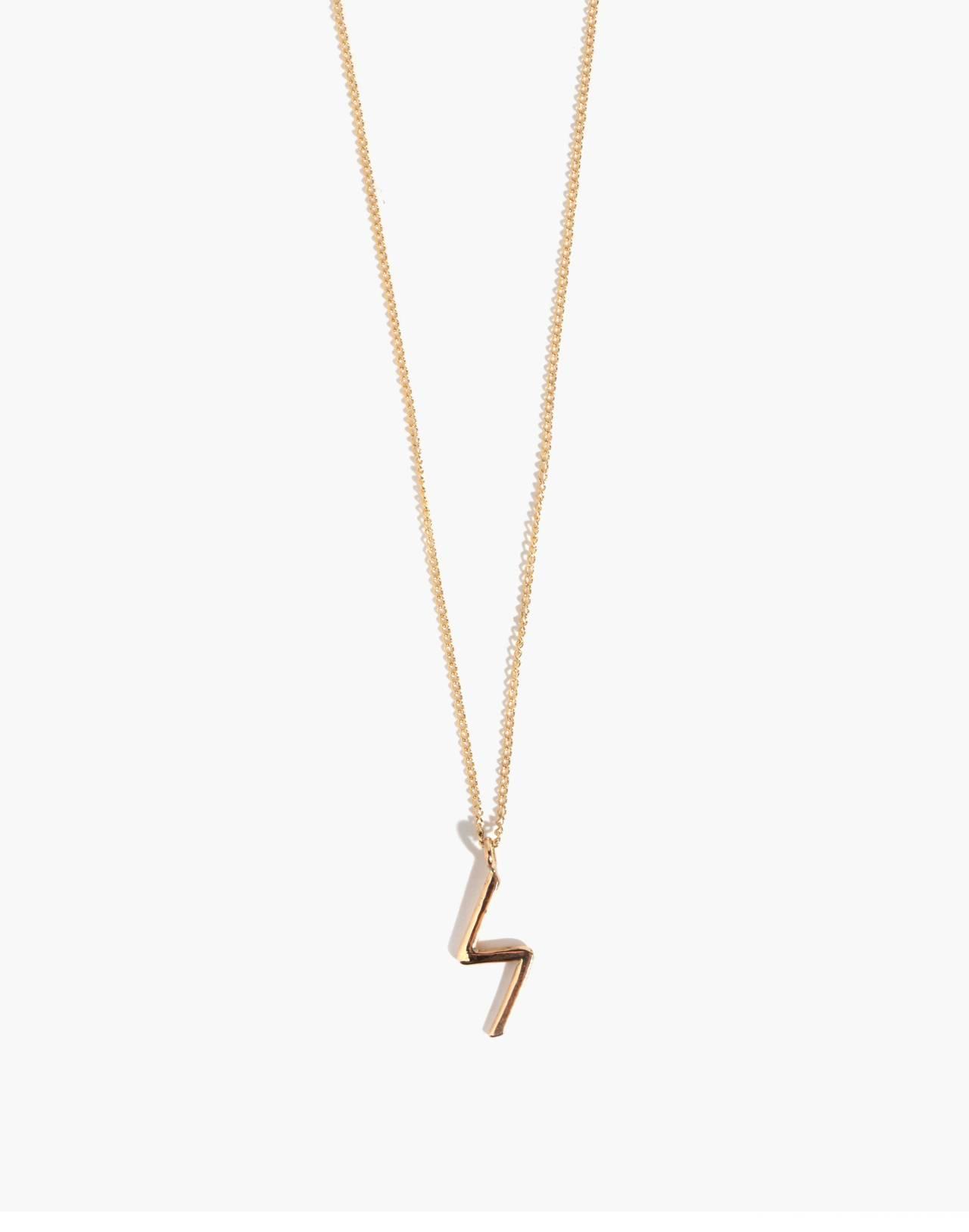 Melissa Joy Manning® 14k Gold Bolt Pendant Necklace in gold image 1