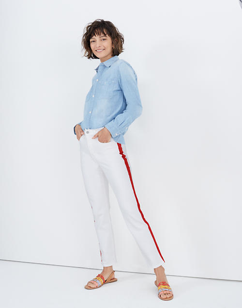 Stovepipe Jeans In Tile White: Tuxedo Stripe Edition by Madewell