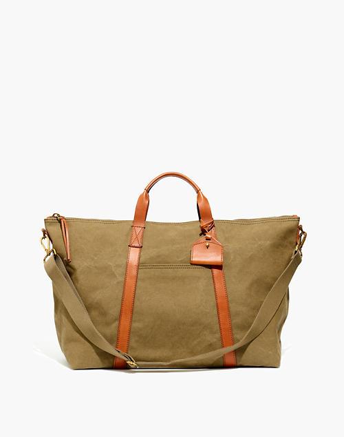 6035f7235 The Essential Overnight Bag in Canvas in british surplus image 1