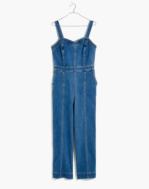 Petite Denim Seamed Wide Leg Jumpsuit In Saville Wash by Madewell