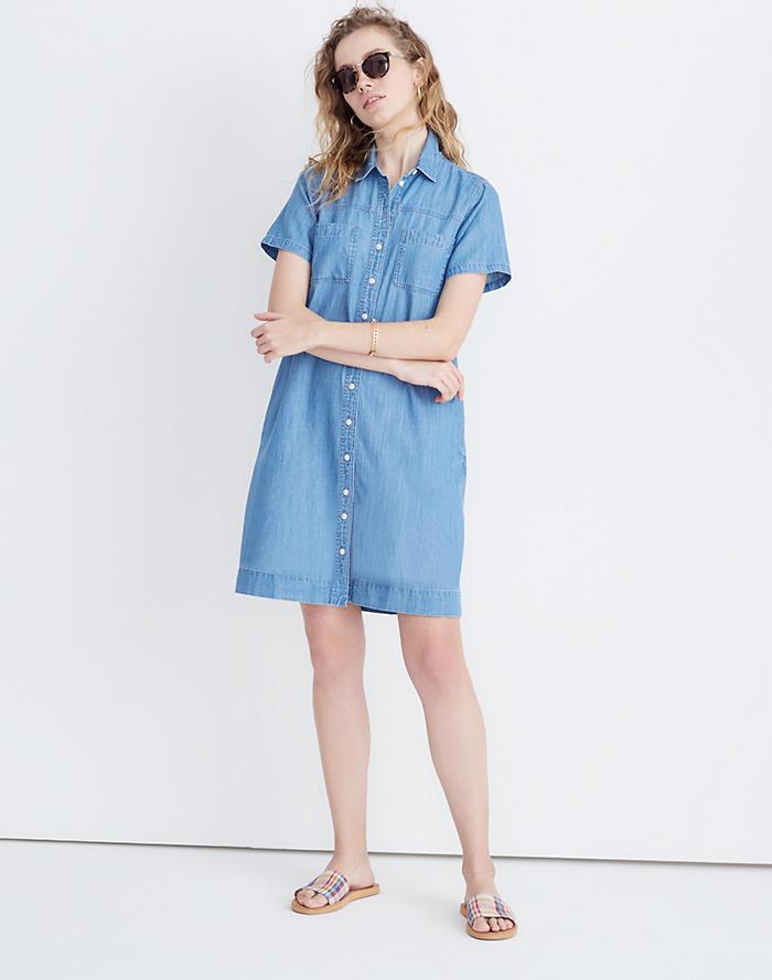 b1d82ce2078 New. Denim A-Line Mini Shirtdress ...