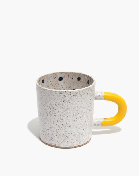 Recreation Center Ceramic Dot Mug in white multi dot image 1