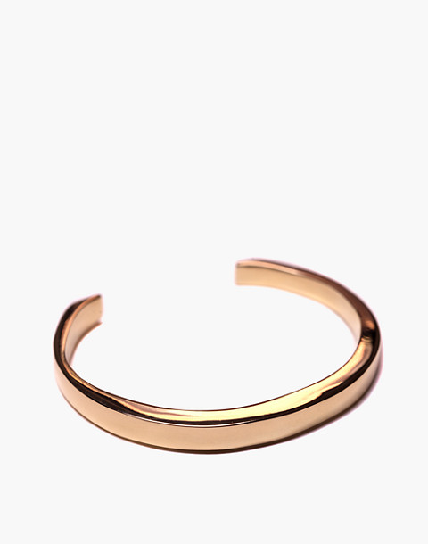 Charlotte Cauwe Studio Brass Everyday Cuff Bracelet in gold image 1