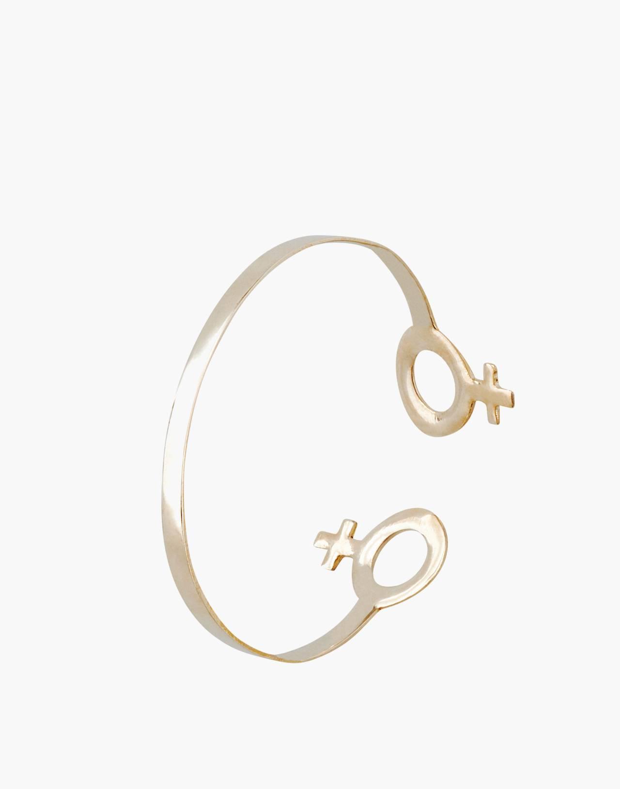Charlotte Cauwe Studio Brass Female Cuff Bracelet in gold image 3