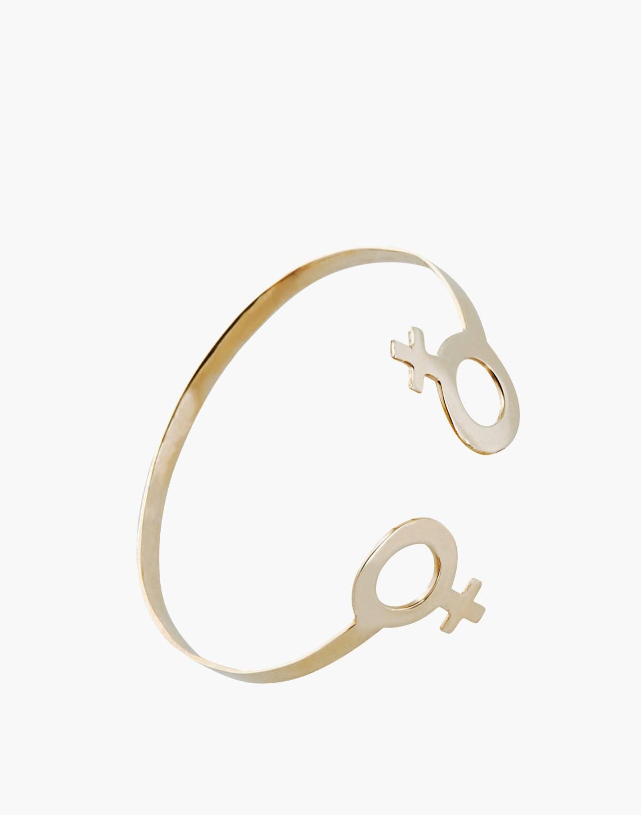 Charlotte Cauwe Studio Brass Female Cuff Bracelet in gold image 1
