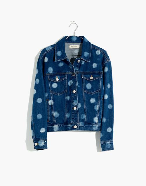beb2a2a76da78 The Boxy-Crop Jean Jacket: Polka Dot Edition in polka dot indigo image 4