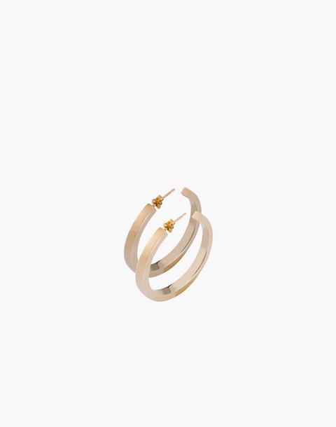 Charlotte Cauwe Studio 14k Gold-Plated Everyday Hoop Earrings in gold image 1