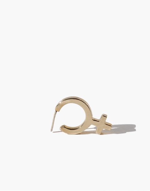 Charlotte Cauwe Studio Sterling Silver Female Hoop Earrings in gold image 1