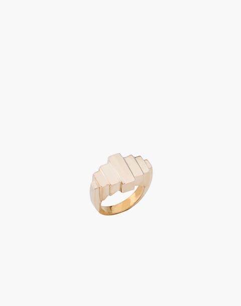 Charlotte Cauwe Studio Brass Deco I Ring in gold image 1