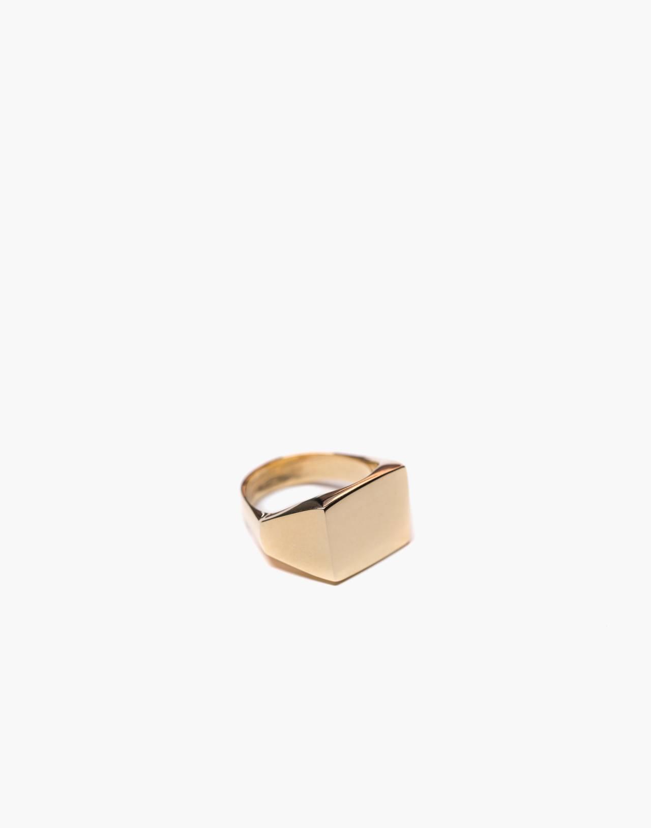 Charlotte Cauwe Studio Brass Delicate Signet Ring in gold image 1