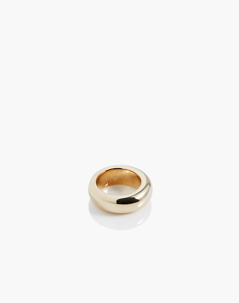 Charlotte Cauwe Studio Brass Donut Ring in gold image 1