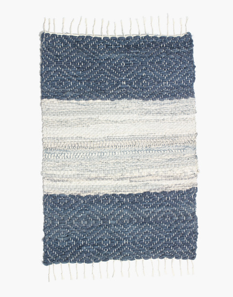 Madewell x The New Denim Project® Rug in indigo/white multi image 1