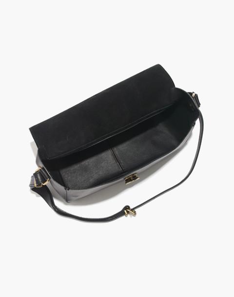 The Abroad Shoulder Bag in true black image 2