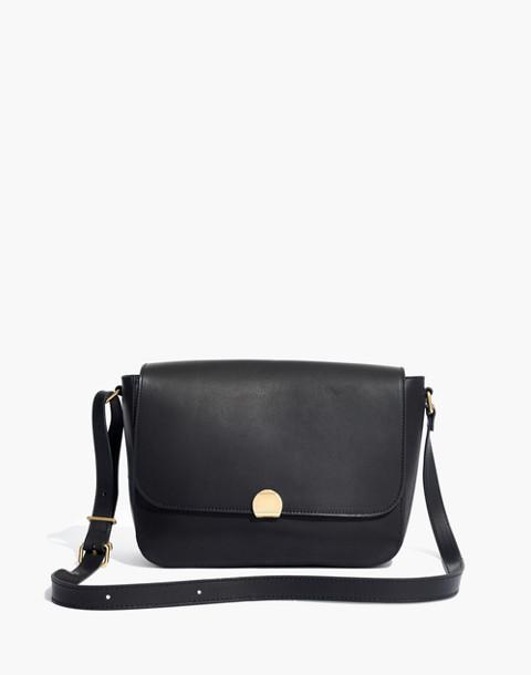 The Abroad Shoulder Bag in true black image 1