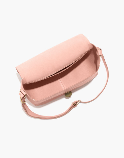 The Abroad Shoulder Bag in peach image 2