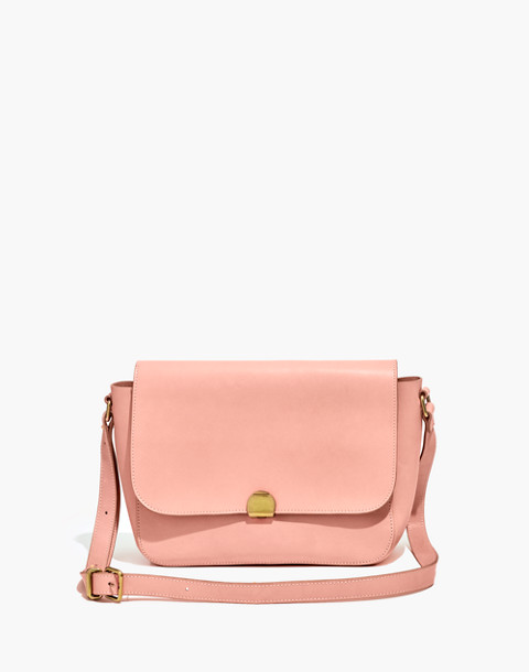 The Abroad Shoulder Bag in peach image 1