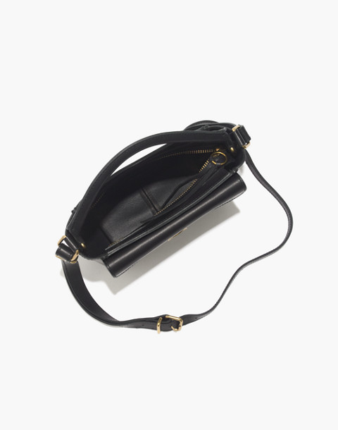 The Mini Abroad Crossbody Bag in true black image 2