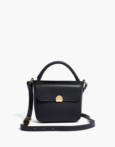 The Mini Abroad Crossbody Bag in true black image 1