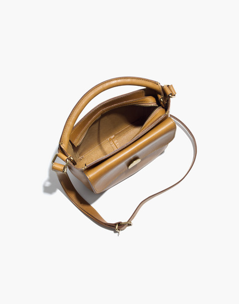 The Mini Abroad Crossbody Bag in distant olive image 2