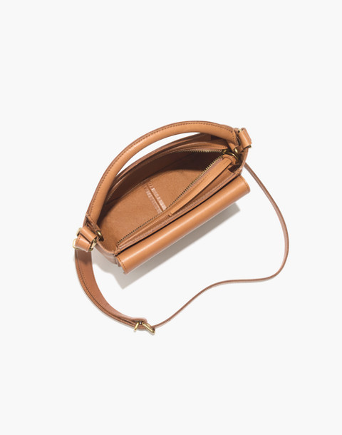 The Mini Abroad Crossbody Bag in desert camel image 3