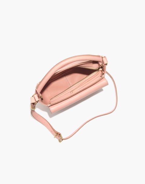 The Mini Abroad Crossbody Bag in peach image 2